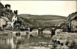 luxemburg, ESCH s/ SURE, Pont sur la Sûre (1950s) RPPC