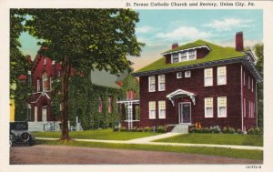 UNION CITY, Pennsylvania, 1910s; Teresa Catholic Church and Rectory
