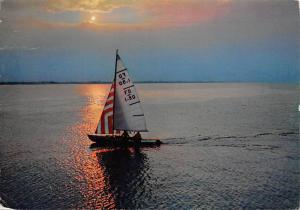 Italy Riccione Passeggiata Notturna Boat Sunset