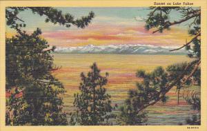 Sunset On Lake Tahoe Nevada Curteich