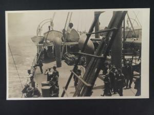 Mint vintage RPPC China Postcard Passengers on Ship
