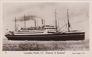 Canadian Pacific Liner Empress Of Scotland Real Photo