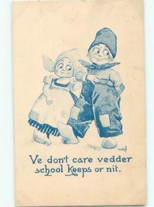 Divided-Back CHILDREN SCENE Great Postcard AA6583