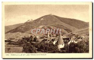 Old Postcard Ribeauville And The Three Castles