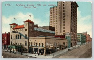 Omaha Nebraska~Orpheum Theatre: Advanced Vaudeville~15th & Harney~1915 Acmegraph