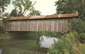 Covered Bridge over Trout River - Montgomery VT, Vermont