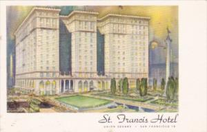 California San Francisco St Francis Hotel Union Square 1955