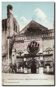 Thouars Postcard Ancient Church St Medard