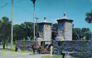 Old City Gates Saint Augustine Florida 1955