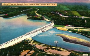 Missouri Lake Of The Ozarks Aerial View Of Bagnell Dam