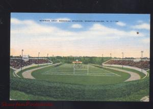 WINSTON SALEM NORTH CAROLINA BOWMAN GRAY FOOTBALL STADIUM POSTCARD