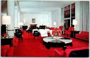 San Bernardino, California Postcard ARROWHEAD SPRINGS HOTEL Lobby View c1950s