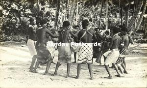 Bismarck Archipelago PNG, New Britain, Native Papua Women Dancing (1910s) RP