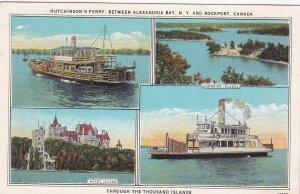 Hutchinson's Ferry , through the Thousand Islands , between ALEXANDRIA BAY , ...