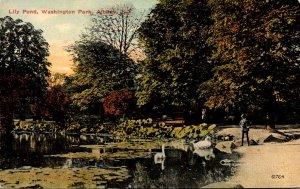 New York Albany Washington Park Lily Pond