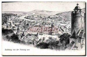 Old Postcard Salzburg von der Festung aus
