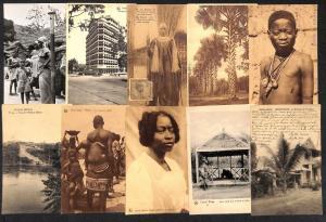 Belgian Congo Belge Africa types ethnics lot 22 vintage postcards