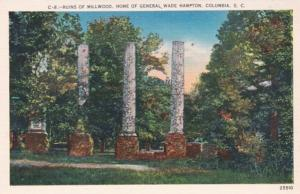 South Carolina Columbia Ruins Of Millwood Home Of General Wade Hampton