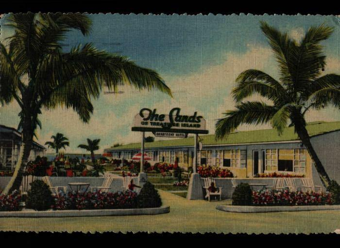 Saint Petersburg FL The Sands of Treasure Island Hotel Postcard B02