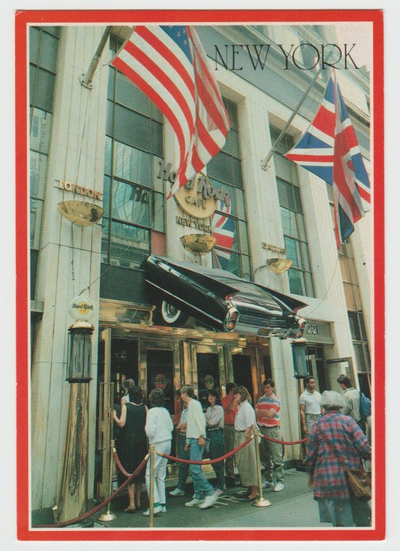 Hard Rock Cafe New York 1989 Vintage Postcard