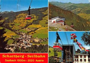 Schattberg Seilbahn Saalbach Cable Car Village Panorama Postcard