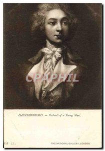 Gainsborough Old Postcard Portrait of a Young Man National Gallery London