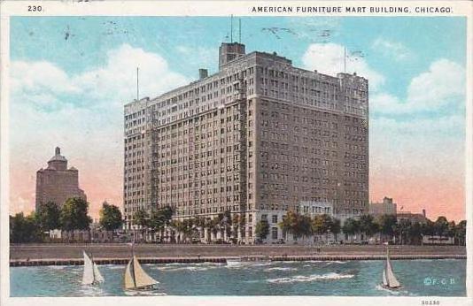 Gentil Illinois Chicago American Furniture Mart Building 1927