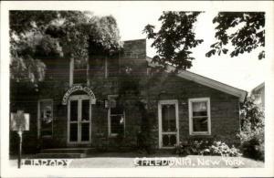 Caledonia NY Library Real Photo Postcard