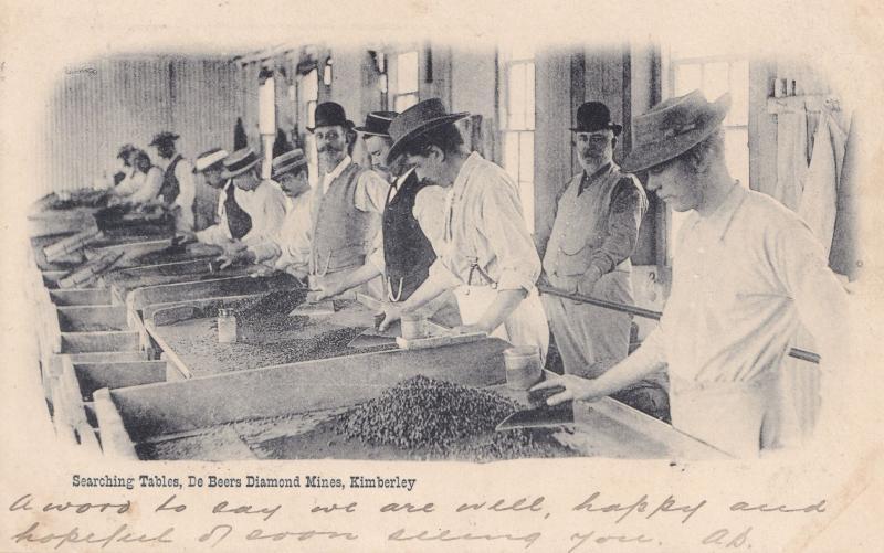 De Beers Diamond Mines Kimberley South Africa Mining Old Postcard