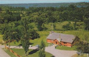 Aerial View of Whetung Ojibqa Crafts Centre, Fine Gift Shop at Curve Lake, On...