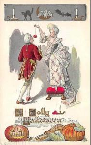Halloween Postcard Old Vintage Post Card Artist Fred Lounsbury 1910