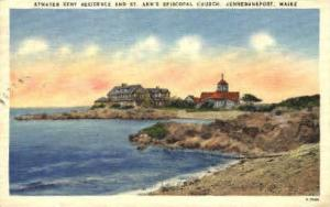 St. Ann's Episcopal Church Kennebunkport ME Postal Used Unknown