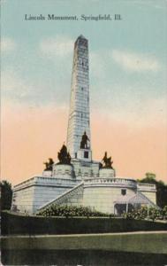 Illinois Springfield Lincoln Monument 1913