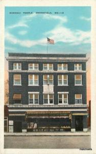 Brookfield Missouri Masonic Temple #2 Kropp postcard 10246