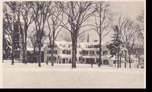 Massachusetts Amherst Snow Scene  The Lord Jeffery And Grace Episcopal Church...