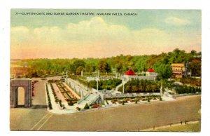 Canada - Ontario, Niagara Falls. Clifton Gate & Oakes Garden Theatre