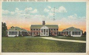 CRISFIELD , Maryland, 1925 ; Edw. W. McCready Memorial Hospital