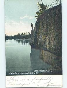 Pre-1907 WATER SCENE Devil'S Oven Island - Thousand Islands New York NY A0741