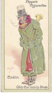 Cigarette Cards Players Characters From Dickens No 31  Codlin