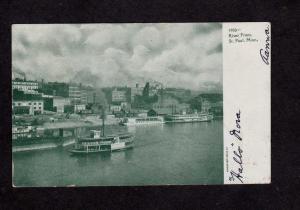 MN Harbor Ferry Boat Hiawatha Steamer Steamship St Paul Minnesota UDB Postcard