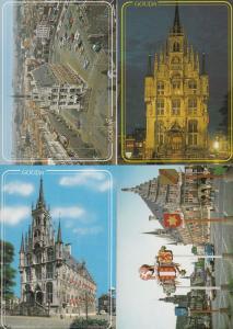 Gouda Gotisch Stadhuis incl Night Illuminations 4x Holland Postcard s