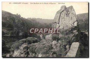Creuse Crozant Postcard Old Rocks Road d & # 39Eguzon
