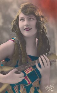RP: Woman with guitar , 00-10s