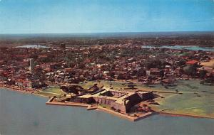 USA St Augustine Florida Aerial view of Castillo de San Marcos Fort
