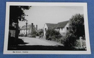 Vintage Real Photo  Postcard  The Street Pleshey Essex C1C