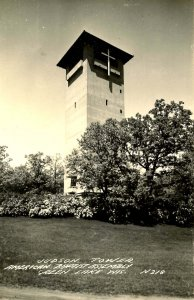 WI - Green Lake. American Baptist Assembly, Judson Tower.  *RPPC