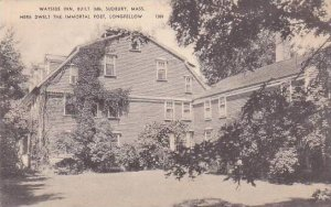 Massachusetts Sudbury Wayside Inn Built 1686 Here Dwelt The Immortal Poet Lon...