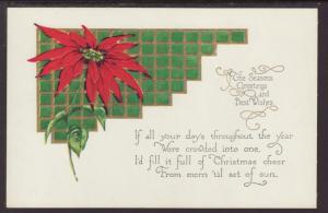 Season's Greetings,Poinsettia Postcard
