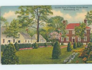 Linen GARDEN VIEW AT GEORGE WYTHE HOUSE Williamsburg By Hampton VA d0643-14