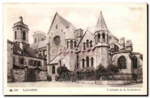Langres - the Cathedral - L & # 39Abside - Old Postcard
